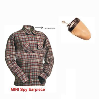 Spy Bluetooth Earpiece Shirt Set In Kanchipuram India