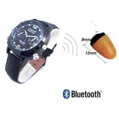 Spy Bluetooth Earpiece Watch Set In India