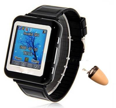 Spy Bluetooth Earpiece Mobile Watch Set In Katni India